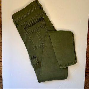 Fidelity Kato Utility Pants Skinny Army Green